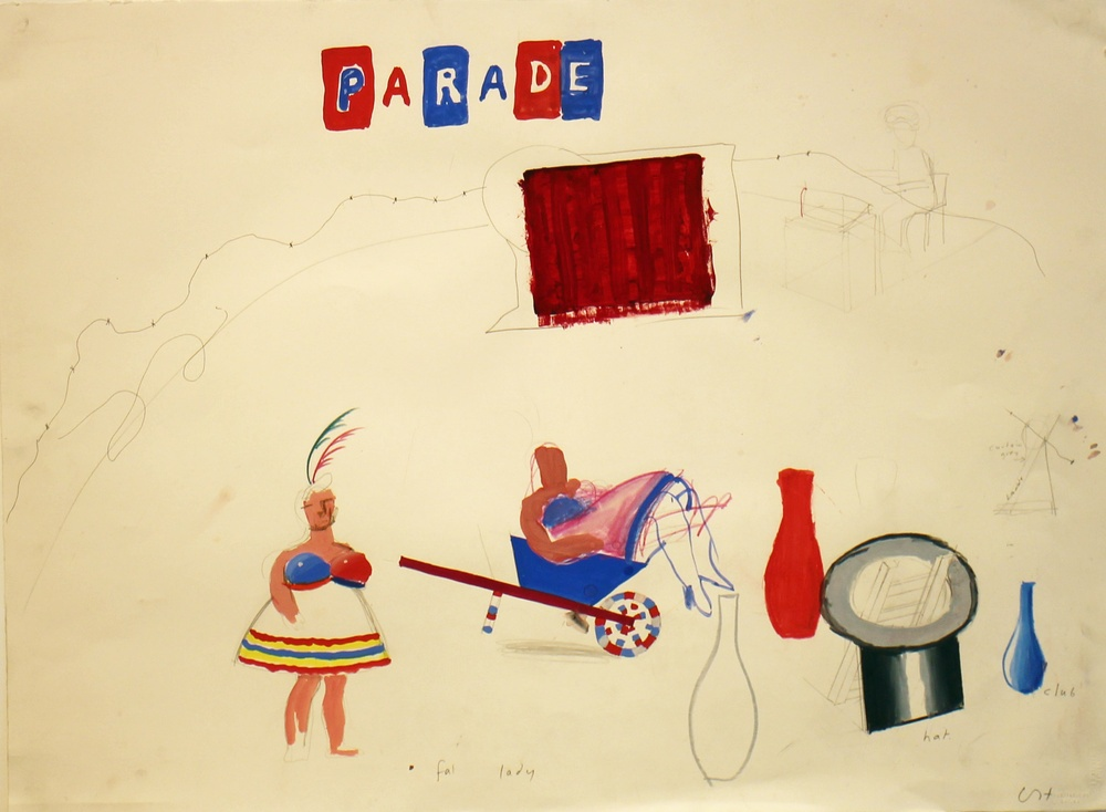 "David Hockney, Fat Lady from ""Parade Triple Bill"", 1980"