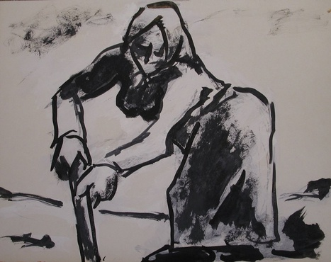 <span class=&#34;artist&#34;><strong>Josef Herman</strong></span>, <span class=&#34;title&#34;><em>Woman in the fields</em>, 1968</span>