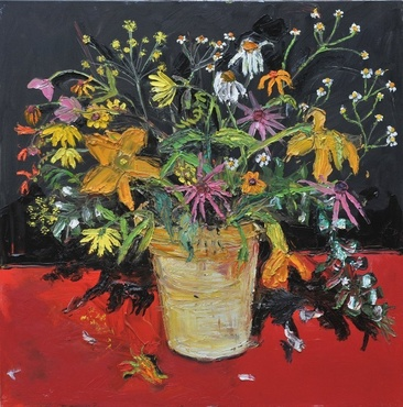 <span class=&#34;artist&#34;><strong>Shani Rhys James</strong></span>, <span class=&#34;title&#34;><em>Flowers on a Red Table</em>, 2011</span>