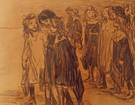 <span class=&#34;artist&#34;><strong>Theophile Alexandre Steinlen</strong></span>, <span class=&#34;title&#34;><em>Going to School</em></span>