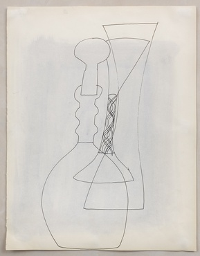 <span class=&#34;artist&#34;><strong>Ben Nicholson</strong></span>, <span class=&#34;title&#34;><em>Untitled (Stoppered Vase and Goblet)</em>, 1972</span>