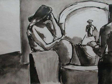 <span class=&#34;artist&#34;><strong>Josef Herman</strong></span>, <span class=&#34;title&#34;><em>Woman at the water tap</em>, 1955</span>