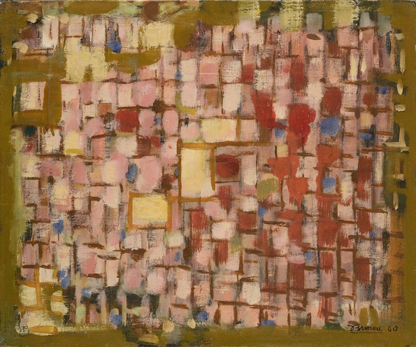 <span class=&#34;artist&#34;><strong>Roger Bissière</strong></span>, <span class=&#34;title&#34;><em>Soleil horizontal - Composition 409</em>, 1960</span>