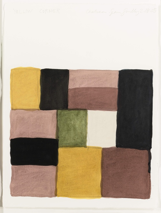 "<span class=""artist""><strong>Sean Scully</strong></span>, <span class=""title""><em>Yellow Corner</em>, 2005</span>"