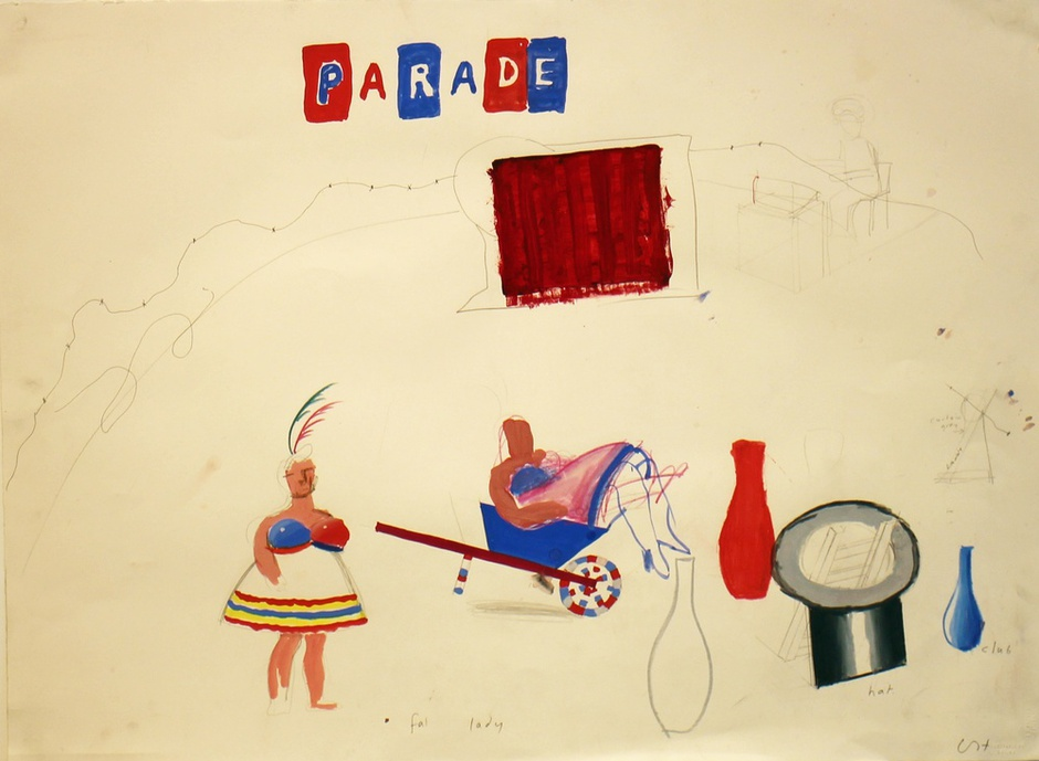 "<span class=&#34;artist&#34;><strong>David Hockney</strong></span>, <span class=&#34;title&#34;><em>Fat Lady from ""Parade Triple Bill""</em>, 1980</span>"