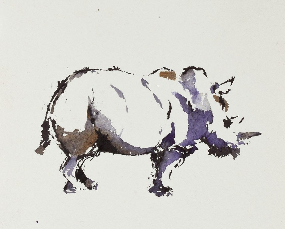<span class=&#34;artist&#34;><strong>Paul Richards</strong></span>, <span class=&#34;title&#34;><em>Study for Rhino</em>, 2010</span>