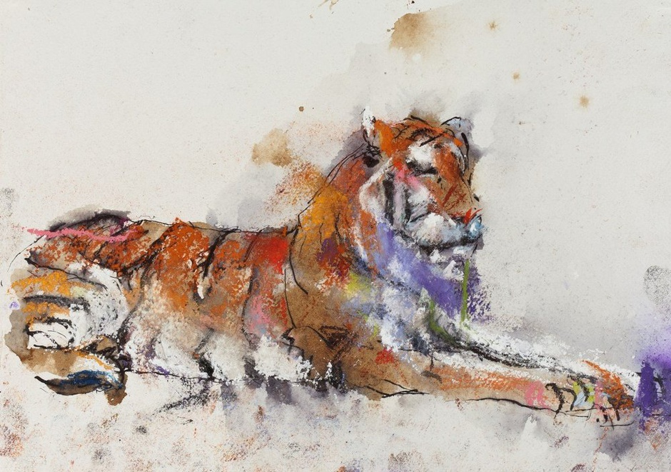 <span class=&#34;artist&#34;><strong>Paul Richards</strong></span>, <span class=&#34;title&#34;><em>Study for Snow Tiger</em>, 2010</span>