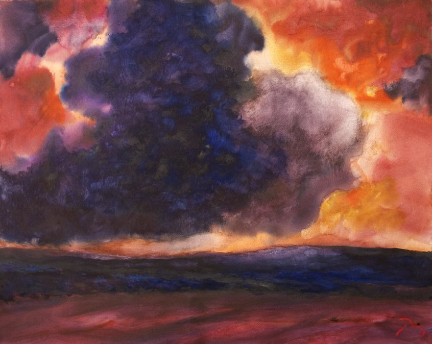 <span class=&#34;artist&#34;><strong>Herbert Beck</strong></span>, <span class=&#34;title&#34;><em>Blue and Purple Clouds</em>, c. 1995</span>