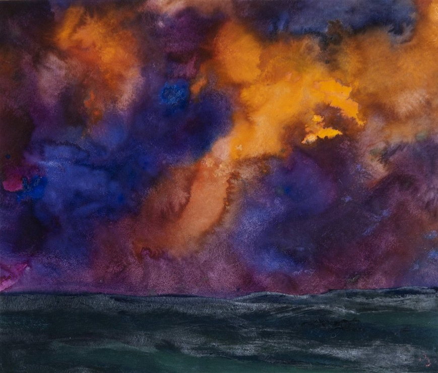 <span class=&#34;artist&#34;><strong>Herbert Beck</strong></span>, <span class=&#34;title&#34;><em>Landscape with Purple Clouds</em>, c. 1990</span>
